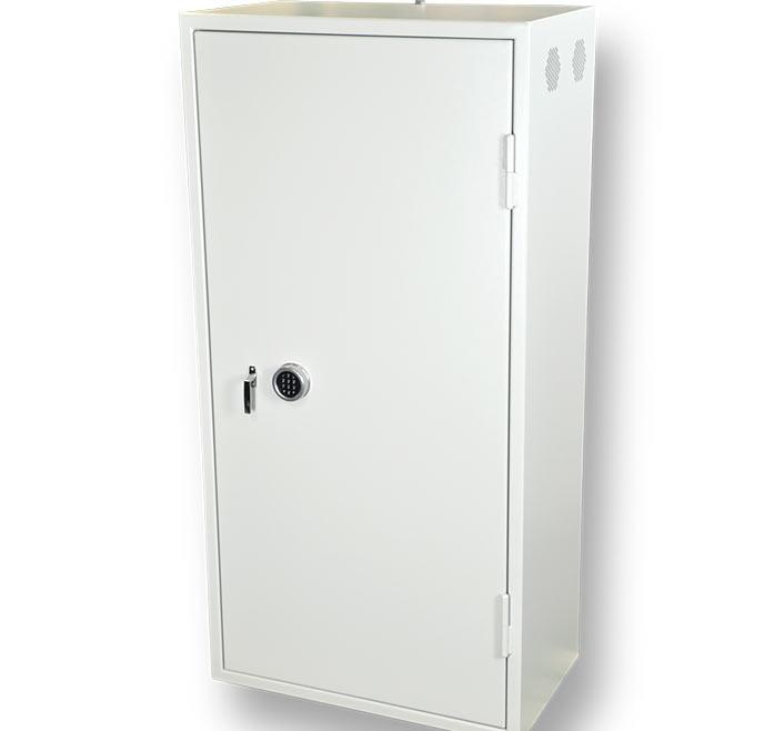 Laptopsskåp DSS 1900 med insatsmodul med laddning och kylning